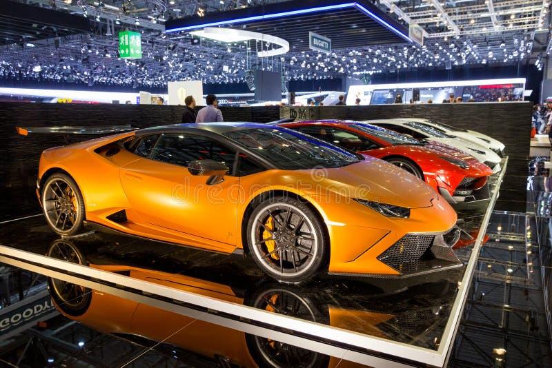 定制的Lamborghini汽车 库存图片