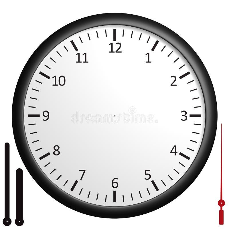 定制空白的时钟 库存例证