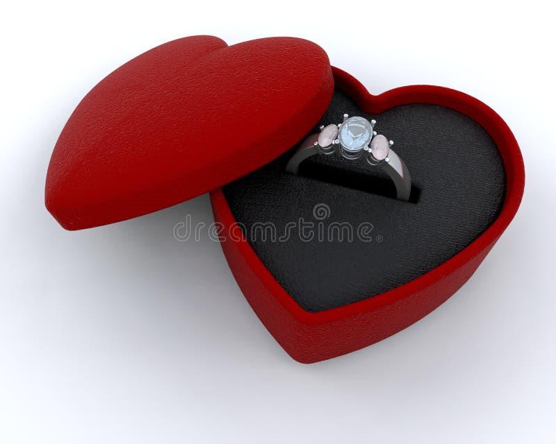 定婚戒指银 向量例证