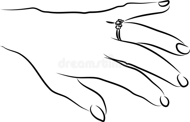 定婚戒指 向量例证