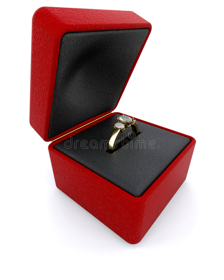 定婚戒指 库存例证