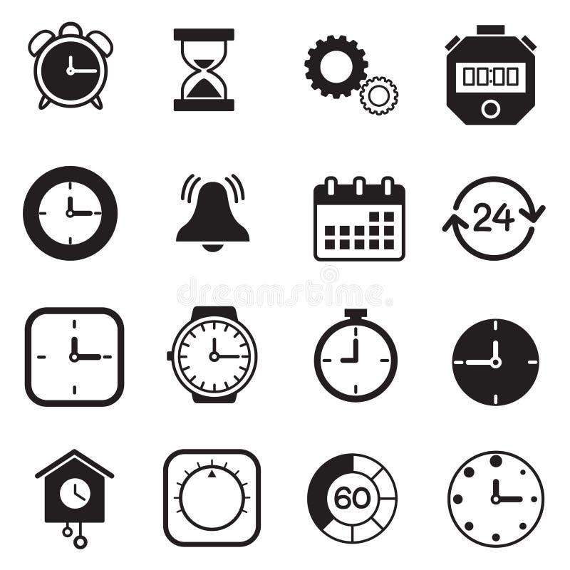 定时器、手表和时钟象 皇族释放例证