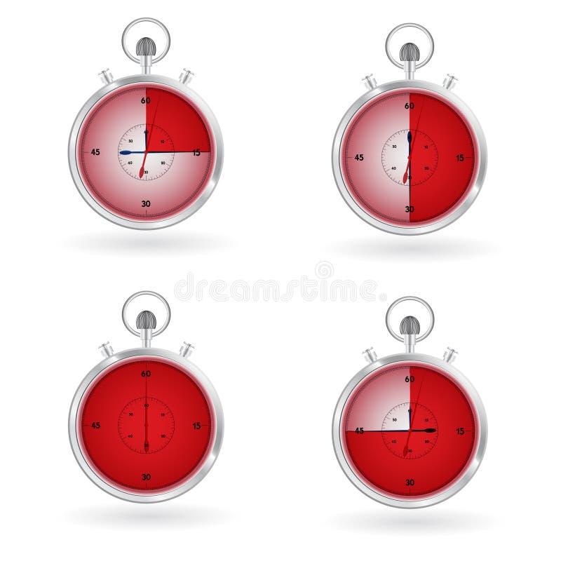 定时器手表 库存例证