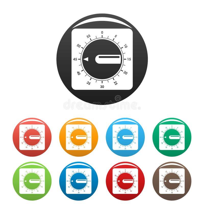 定时器时钟象集合颜色 向量例证