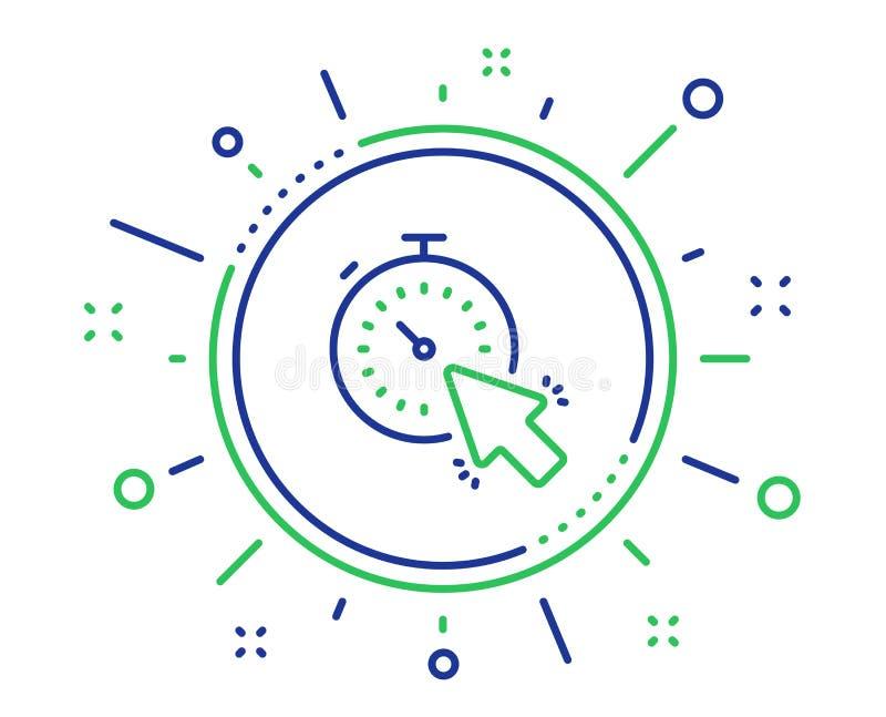 定时器线象 时间或时钟标志 ?? 向量例证