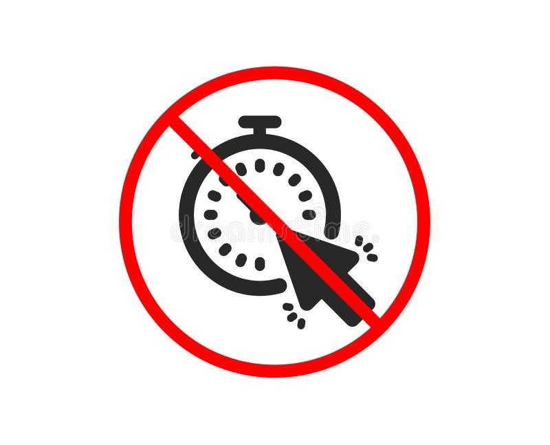 定时器象 时间或时钟标志 ?? 库存例证