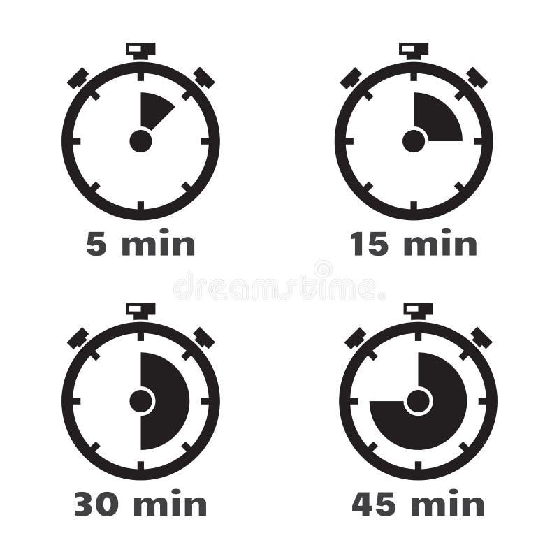 定时器集合,传染媒介标志 皇族释放例证