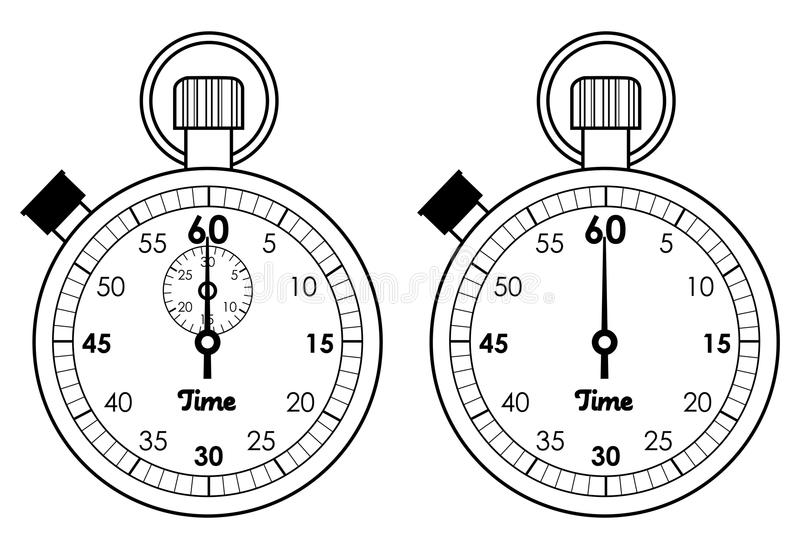 定时器 库存例证