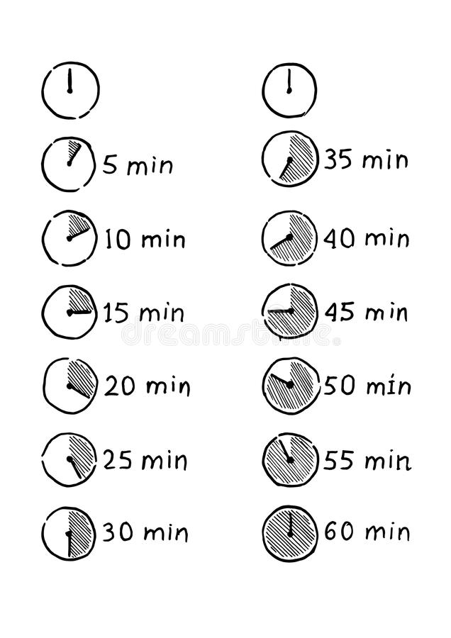 定时器Infographic象 库存例证