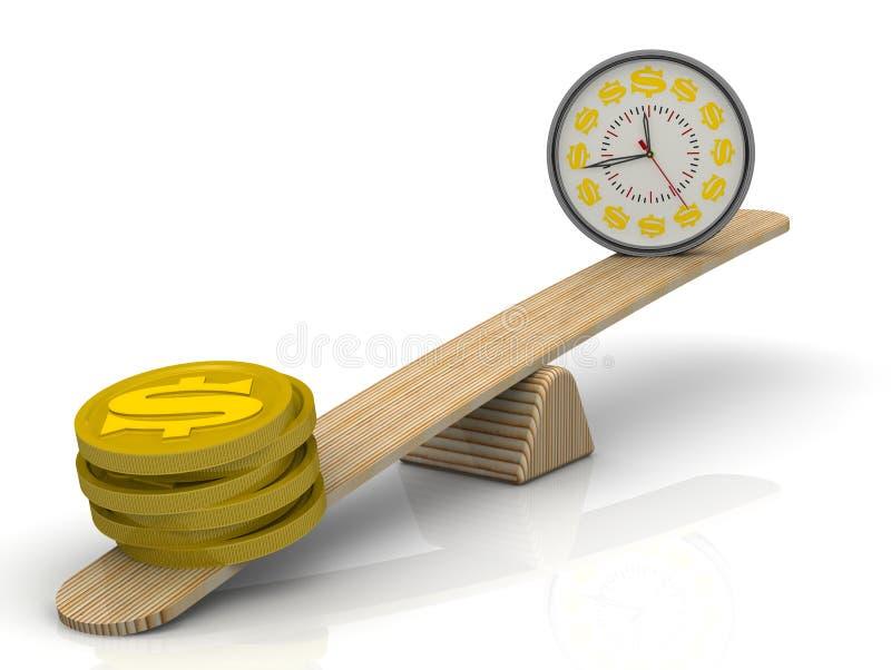 定期金钱平衡 不是金钱,但是时间 向量例证