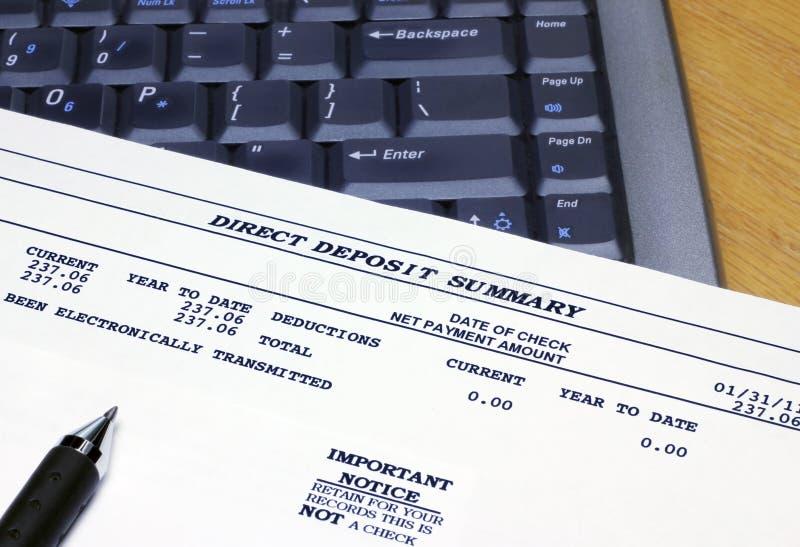 定金直接膝上型计算机汇总 免版税库存图片