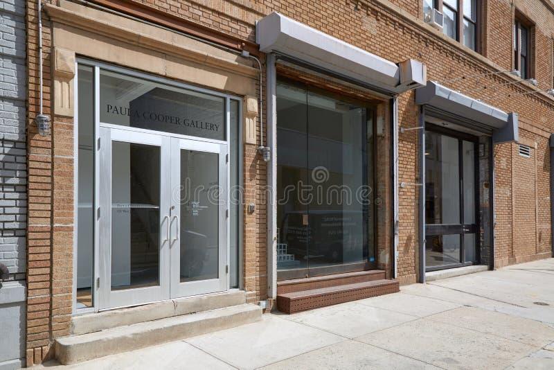 宝拉木桶匠画廊外视图在切尔西,纽约 库存照片
