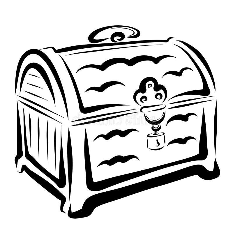 锁住的小箱子_download 宝物箱,锁着的箱子,等高 库存例证.