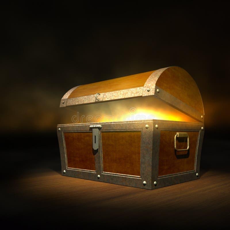 宝物箱 库存例证