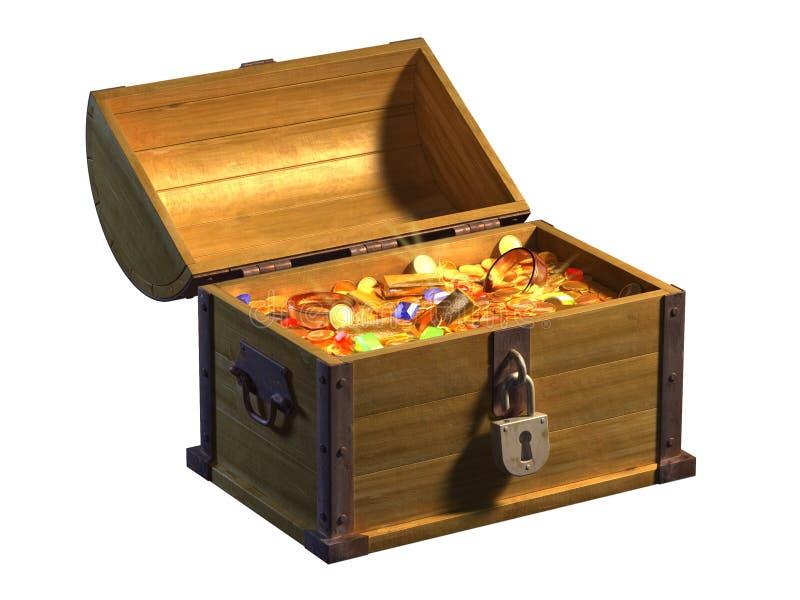 宝物箱 皇族释放例证