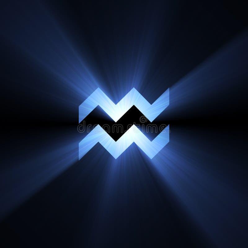 宝瓶星座占星术光晕空间符号 向量例证