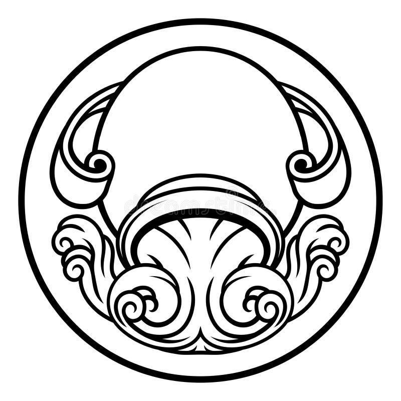 宝瓶星座占星黄道带占星术标志 库存例证