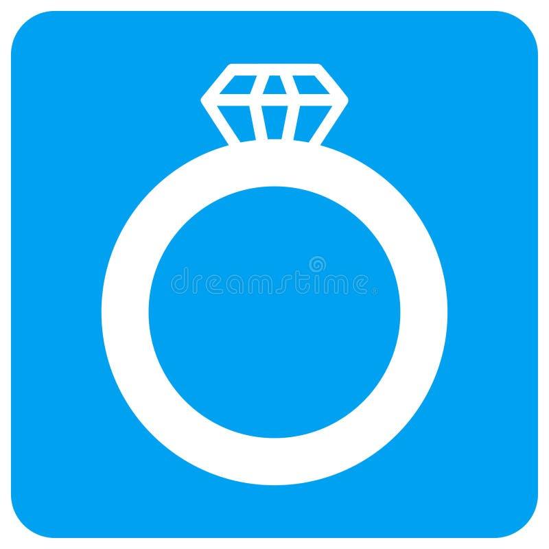 宝石圆环环绕了方形的光栅象 皇族释放例证