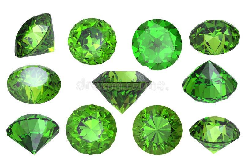 宝石查出橄榄石 皇族释放例证
