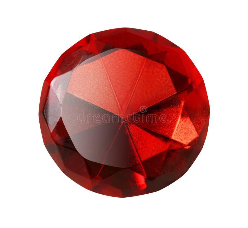 宝石查出的红色 免版税库存照片