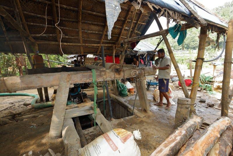 宝石矿在Ratnapura在斯里兰卡 免版税库存图片