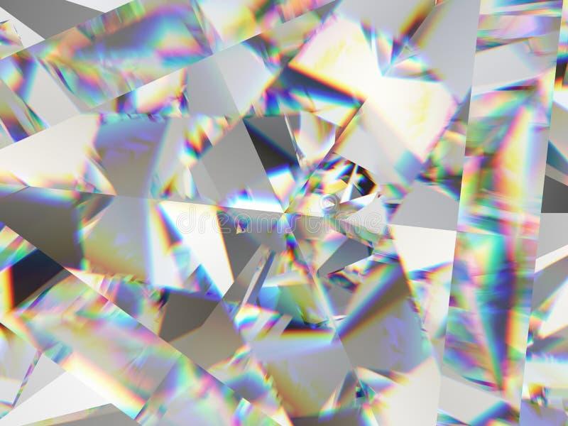 宝石结构极端特写镜头和万花筒 皇族释放例证