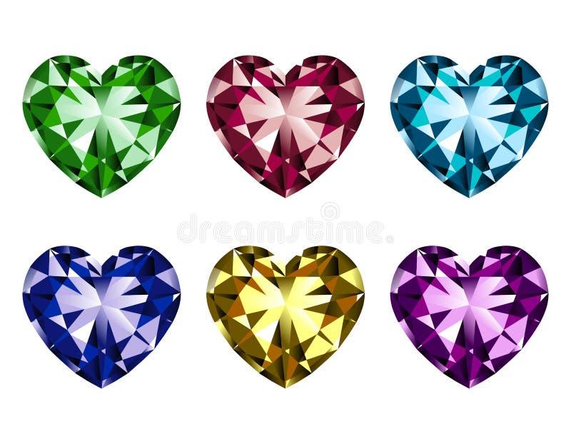 宝石重点集合形状 库存例证