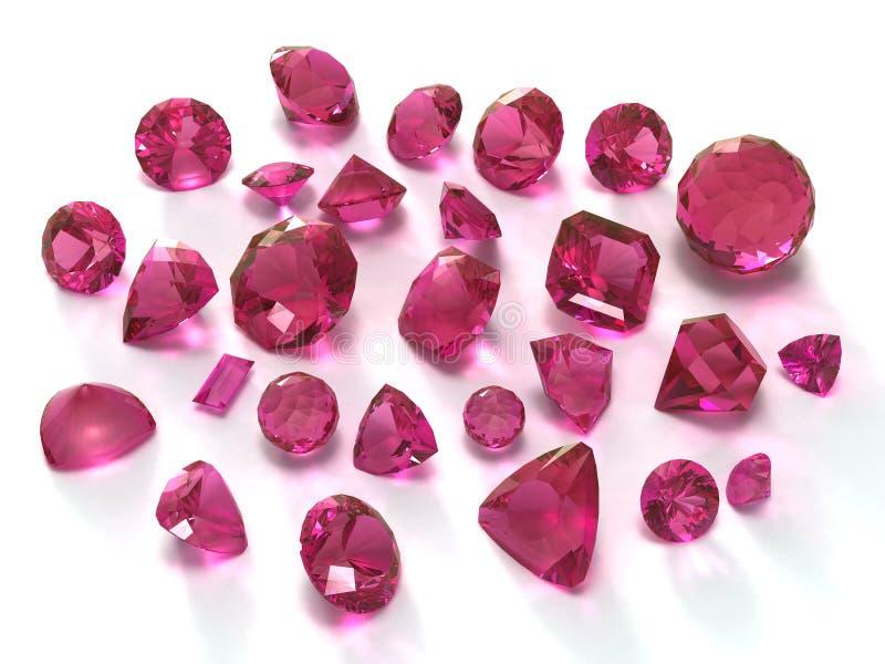 宝石rodolite 向量例证