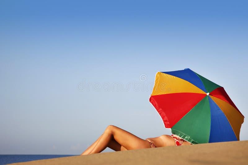 宝贝海滩夏天 库存照片