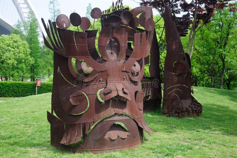 宝钢雕塑在上海中国 图库摄影