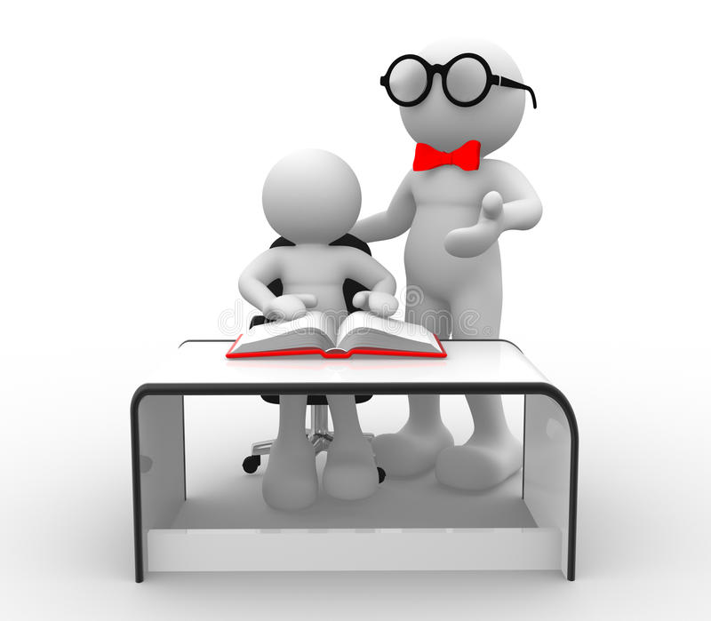 实习教师 库存例证