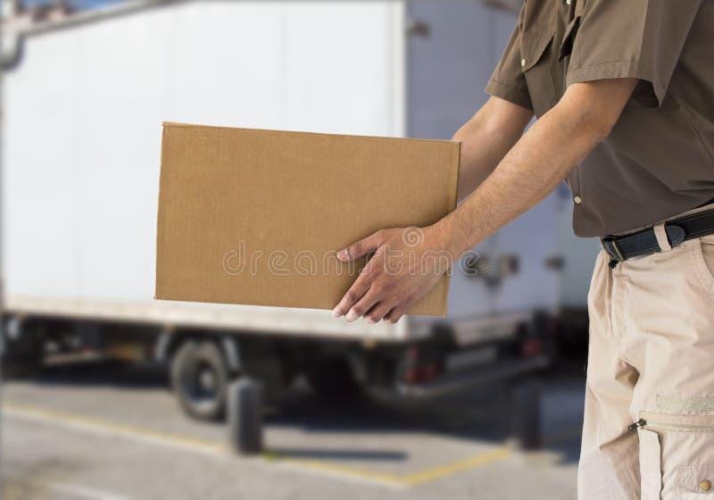 实施纸板箱 免版税库存图片