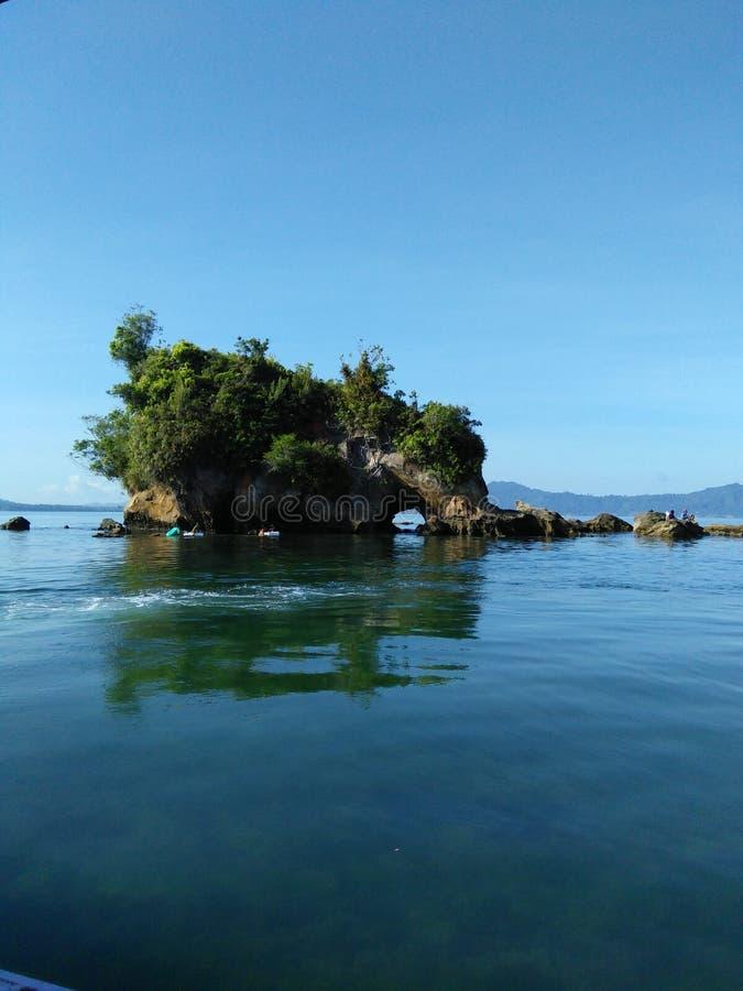 实武牙印度尼西亚的大象海岛 库存照片