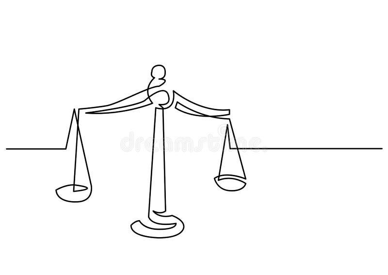 实线重量图画正义 皇族释放例证