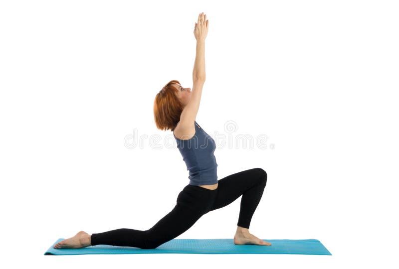 实践女子瑜伽 免版税库存照片