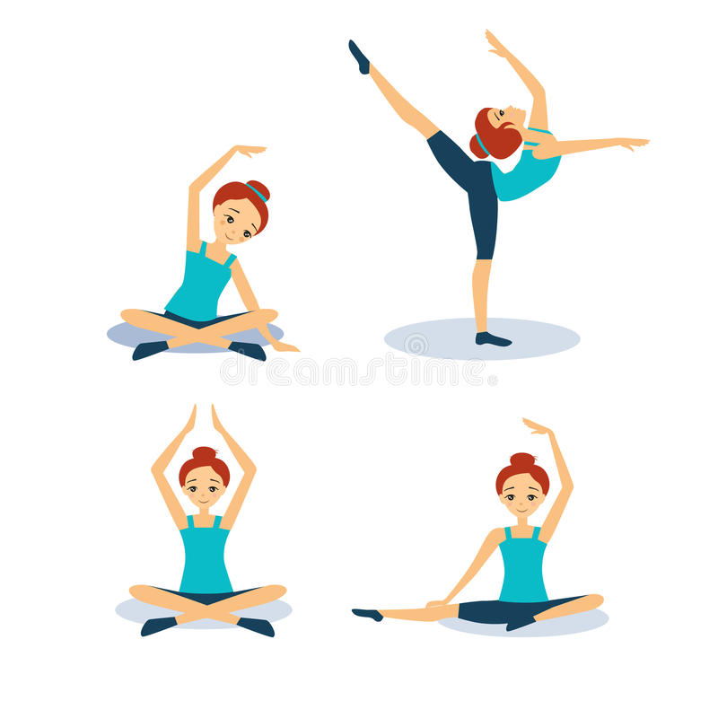 实践的女子瑜伽 提取空白背景蓝色按钮颜色光滑的例证查出的对象被设置的盾发光的向量 向量例证