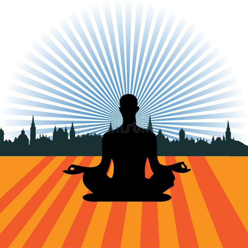 实践的瑜伽 库存例证