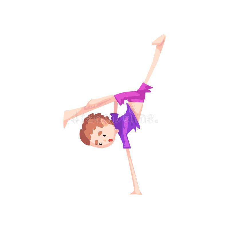 实践capoeira运动,孩子字符的一方面男孩身分做武术, capoeira的作战元素 库存例证