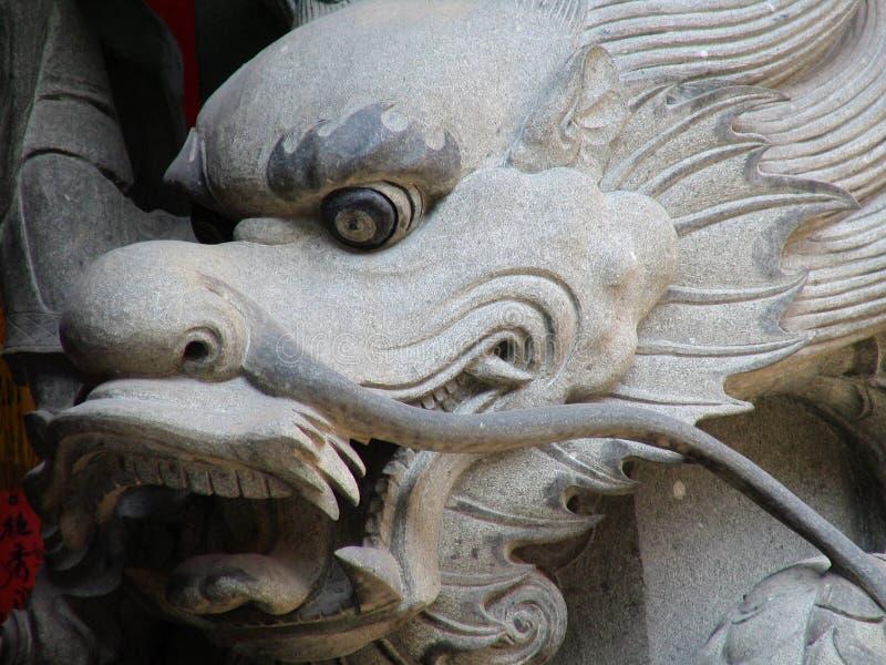 实际中国的龙 免版税库存图片