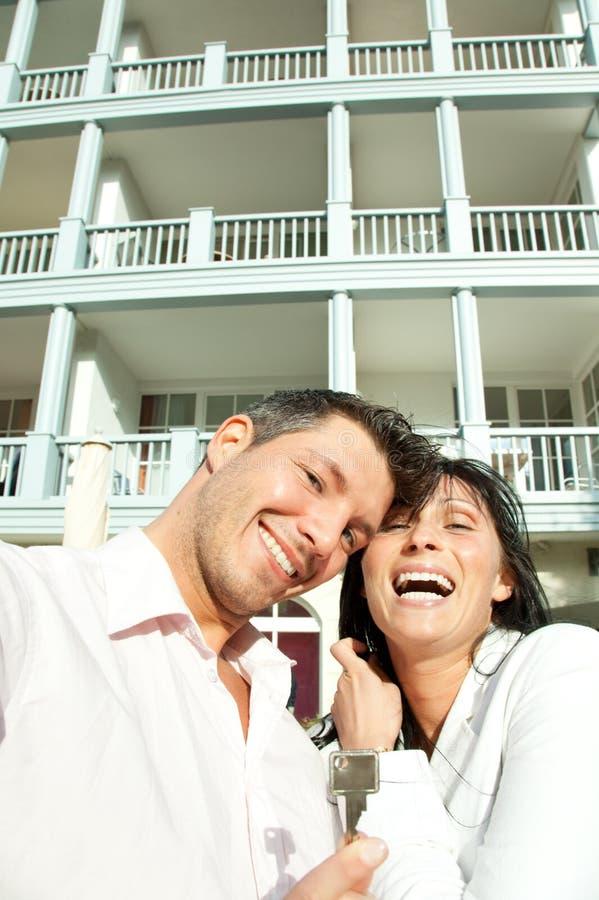 实际夫妇的庄园 库存照片