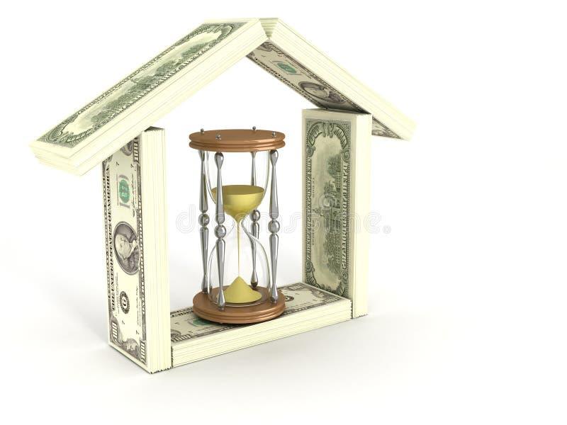 实际庄园的投资 向量例证