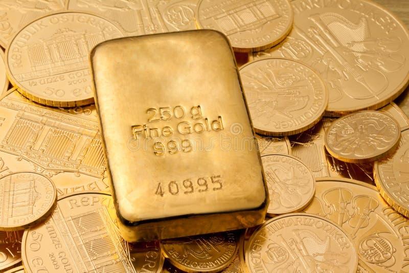 实际金子的投资 免版税库存照片