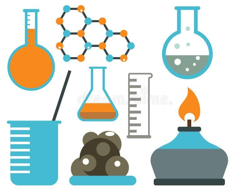 实验室标志测试医学实验室科学生物设计科学化学象导航例证