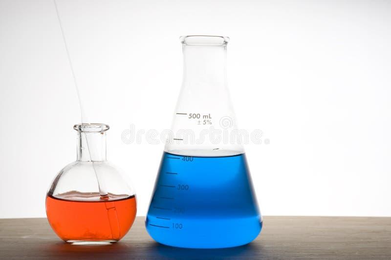 实验室烧瓶 库存图片