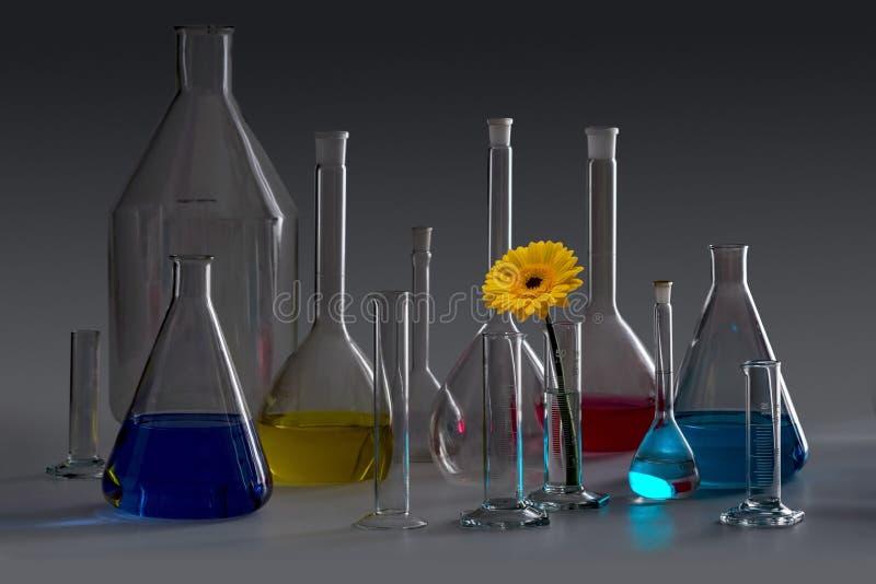 实验室玻璃器皿 图库摄影