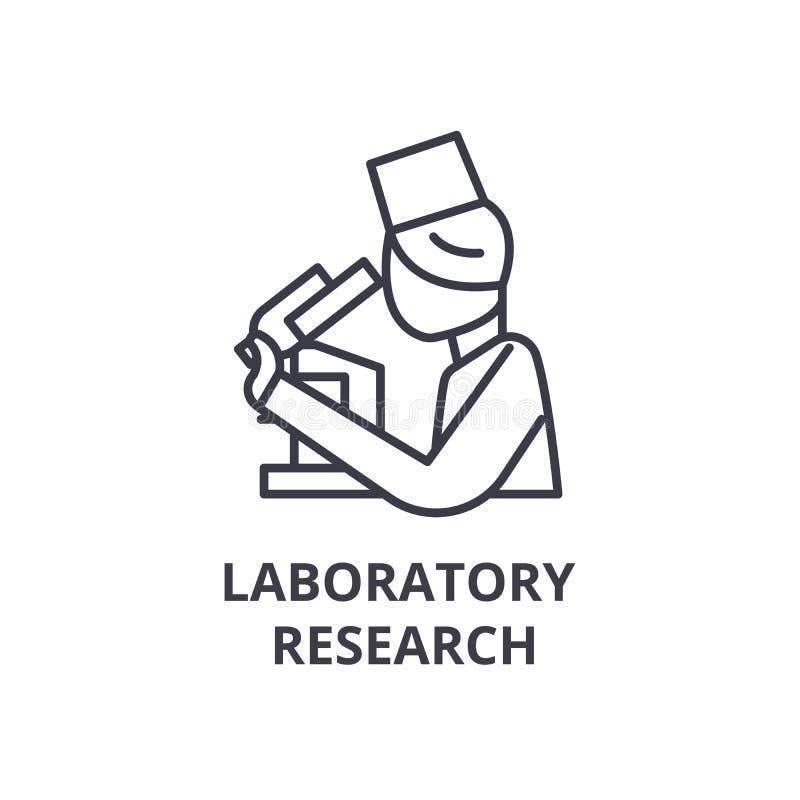 实验室研究稀薄的线象,标志,标志, illustation,线性概念,传染媒介 向量例证