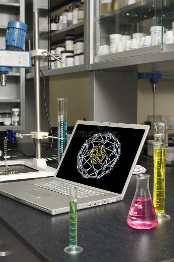 实验室膝上型计算机 图库摄影