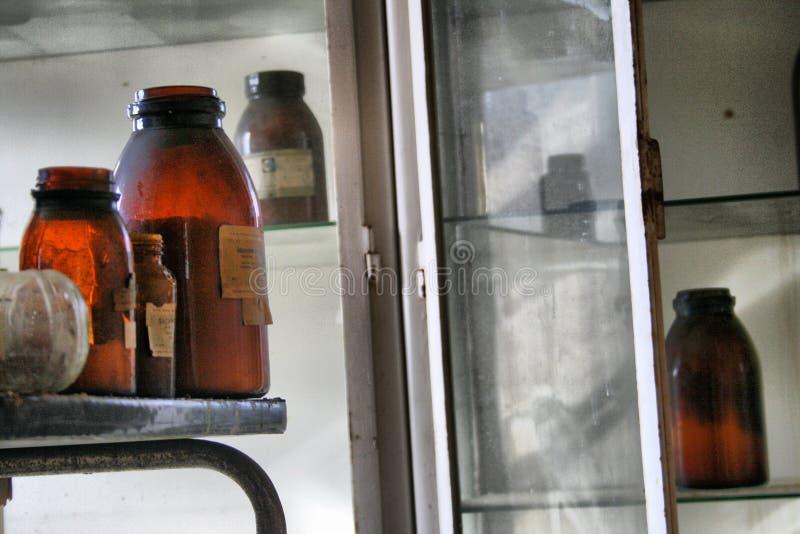 实验室被放弃的工厂 免版税库存图片