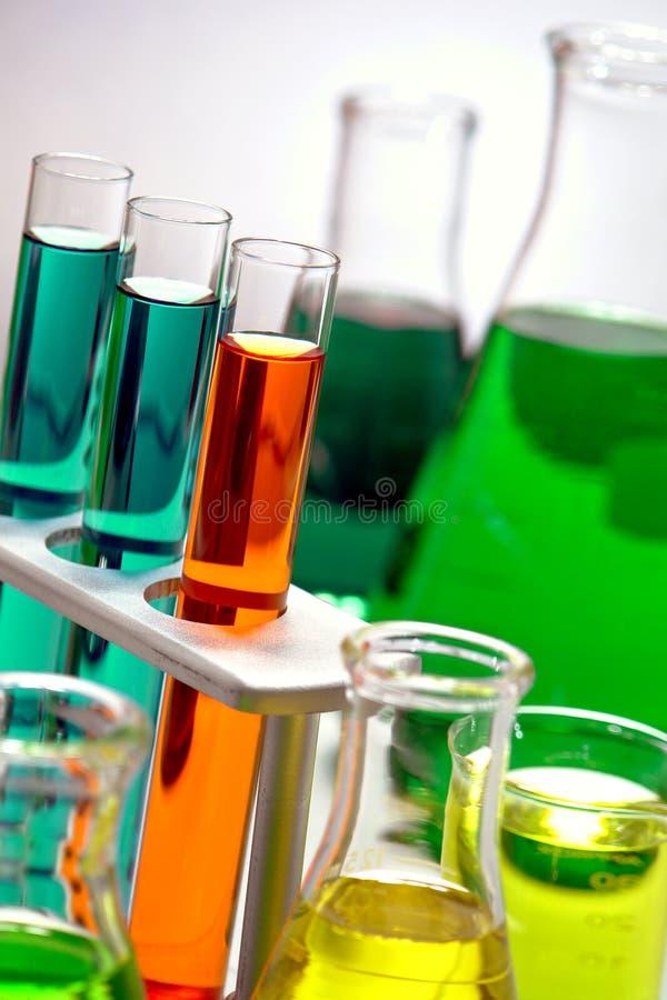 实验室设备在科学研究实验室 库存照片