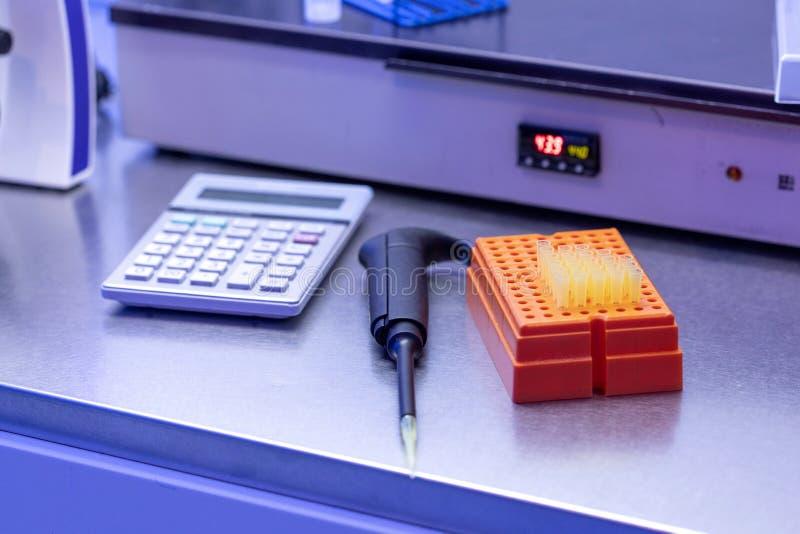 实验室设备细节 免版税库存图片